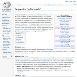 Impression (online media)