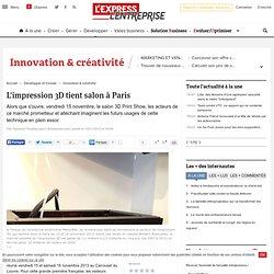 L'impression 3D tient salon à Paris
