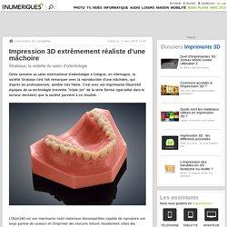 Impression 3D extrêmement réaliste d'une mâchoire