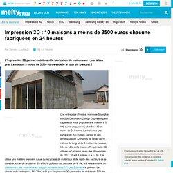 Impression 3D : 10 maisons à moins de 3500 euros chacune fabriquées en 24 heures
