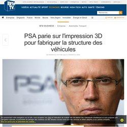PSA parie sur l'impression 3D pour fabriquer la structure des véhicules
