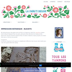 Impression botanique : bleuets