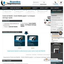 Carte de fidelité - Carte fidélité papier + un tampon séchage rapide : Impression - imprimerie - imprimeur