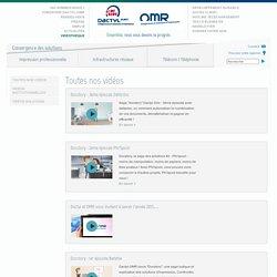 Toutes nos vidéos - Dactyl-OMR : solutions d'impression et infogérance
