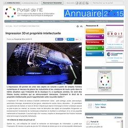 Impression 3D et propriété intellectuelle