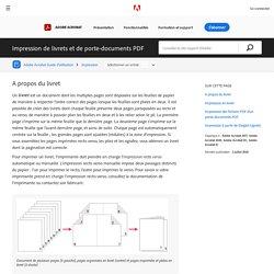 Impression de livrets et de porte-documents PDF, Adobe Acrobat