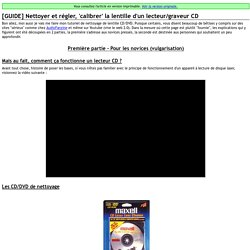 Impression d'un article - [GUIDE] Nettoyer et régler, 'calibrer' la lentille d'un lecteur/graveur CD - La taverne de John-John