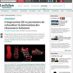 Impression 3D : Salomon pourrait relocaliser la conception des chaussures en France