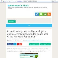 Print Friendly : un outil gratuit pour optimiser l'impression des pages web et les sauvegarder en PDF