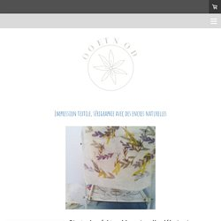 Impression textile, sérigraphie avec des encres naturelles - COLORE TON MONDE !