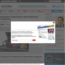 Comment l'impression 3D bouleverse l'industrie - Transformation Digitale