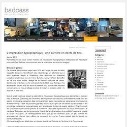 Historique de l'impression typographique, letterpress | Badcass