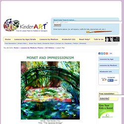 Monet and Impressionism - Art History for Kids- KinderArt