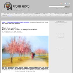 Photo Impressionism: How to Use Your Camera as a Digital Paintbrush
