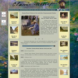 Claude Monet | Works of Art and Life of Impressionist Painter