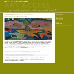 Art Access: Impressionist and Post-Impressionist Art