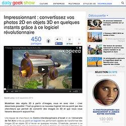 Impressionnant : convertissez vos photos 2D en objets 3D en quelques instants grâce à ce logiciel révolutionnaire