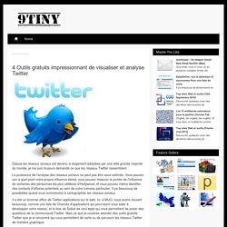 4 Outils gratuits impressionnant de visualiser et analyse Twitter / 9tiny.com