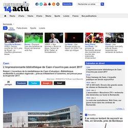 L'impressionnante bibliothèque de Caen n'ouvrira pas avant 2017