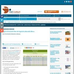 Impressionnante liste de logiciels éducatifs libres