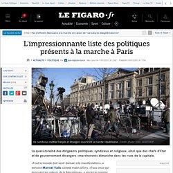 L'impressionnante liste des politiques présents à la marche à Paris