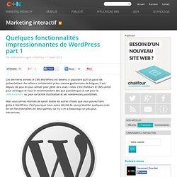 Quelques fonctionnalités impressionnantes de Wordpress part 1