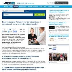 Impressionnez l'employeur en posant ces 6 questions à votre entretien d'embauche