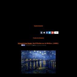 Vincent Van Gogh,Nuit Étoilée sur le Rhône,1888,post-impressionnisme,éducation,enseignement,le rythme en peinture,analyse et etude de la toile et du style,art,culture,peinture