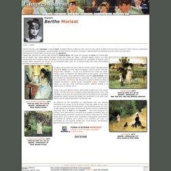 Artiste Peintre impressionniste Berthe Morisot Biographie