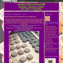 Handmade Buttons: Studio Saturday with Claybuttons at Art Bead Scene