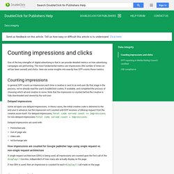 Counting impressions and clicks - DoubleClick for Publishers Help