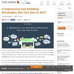 5 Impressive List Building Strategies You Can Use in 2017 - YNG Media Blog