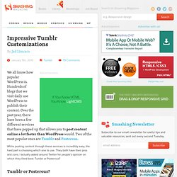 Impressive Tumblr Customizations - Design Informer