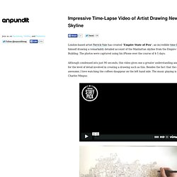 Impressive Time-Lapse Video of Artist Drawing New York Skyline