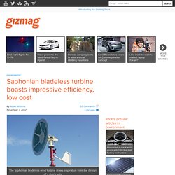 Saphonian bladeless turbine boasts impressive efficiency, low cost