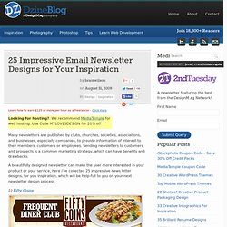 25 Impressive Email Newsletter Designs for Your Inspiration at DzineBlog