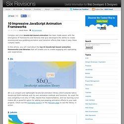 10 Impressive JavaScript Animation Frameworks