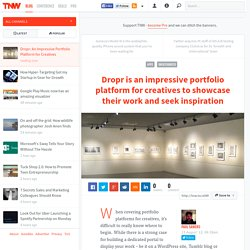 Dropr: An Impressive Portfolio Platform for Creatives