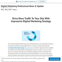 Drive More Traffic To Your Site With Impressive Digital Marketing Strategy – Digital Marketing Professional News & Update