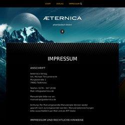 Impressum – Aeternica