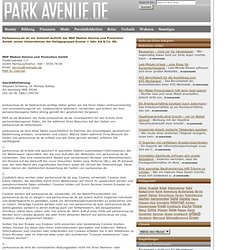 Impressum - PARK AVENUE – DAS PERSONALITYMAGAZIN