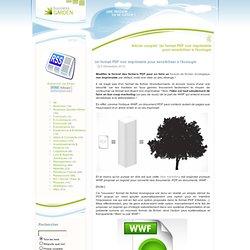 Un format PDF non imprimable pour sensibiliser à l'écologie