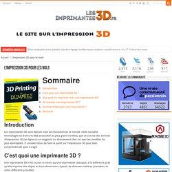 Imprimante 3D et impression 3D pour les nuls