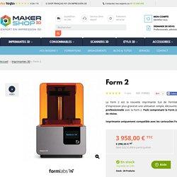 Form 2 - Imprimante 3D Form 2 - Achat sur Makershop.fr