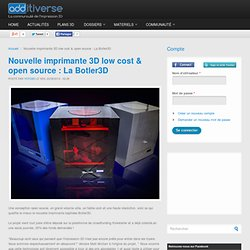 Nouvelle imprimante 3D low cost & open source : La Botler3D