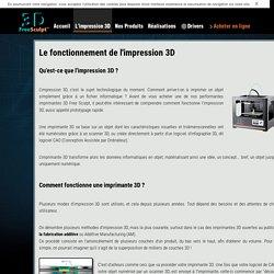 L'imprimante 3D : fonctionnement, principe et vidéo