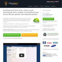 Pilote GreenCloud imprimante écologique et PDF Creator - Aperçu