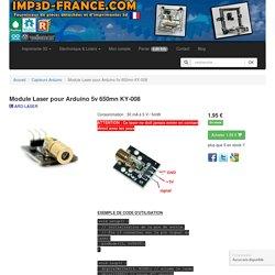 Module Laser pour Arduino 5v 650mn KY-008 - pieces detachees imprimante impression 3D imp3d france