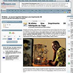 W.Afate : un jeune togolais fabrique une imprimante 3D à partir de déchets informatiques récupérés