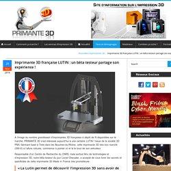 Imprimante 3D LUTIN de 3DPNX : l'avis d'un bêta testeur !